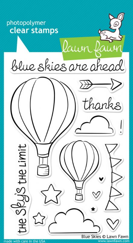 LF0511  ~  BLUE SKIES ~  CLEAR STAMPS BY LAWN FAWN